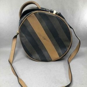 Authentic Fendi Black & Brown Striped Bag